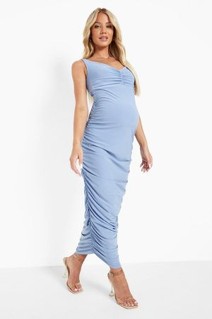 Boohoo Womens Maternity Off The Shoulder Ruched Midaxi - - 4