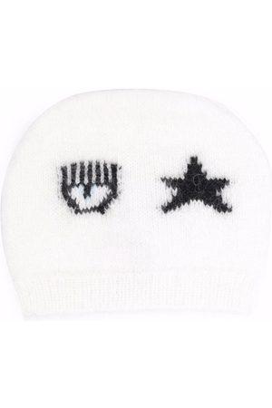 Chiara Ferragni Logo-print knitted beanie