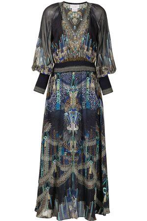 Camilla Women Party Dresses - Shirred-waist V-neck dress