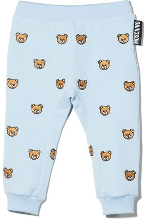 Moschino Sports Pants - Embroidered toy bear trousers