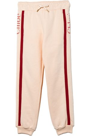 Chloé Girls Sweatpants - Side stripe logo track pants