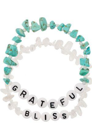 Tbalance Crystals Women Bracelets - Grateful Bliss set of two bracelets - Neutrals