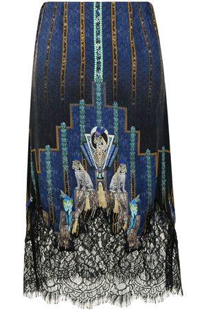 Camilla Women Skirts - Dripping In Deco silk skirt