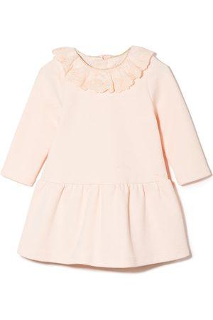 Chloé Ruffle-collar long-sleeve dress