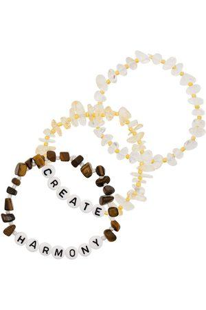Tbalance Crystals Women Bracelets - Create Harmony set of three bracelets - Neutrals