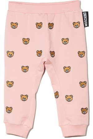 Moschino Sweatpants - Teddy Bear-embroidered track pants