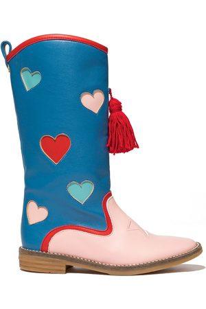 Stella McCartney Hearts two-tone tall boots