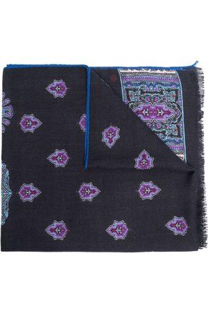 Etro Paisley-print frayed-edge scarf