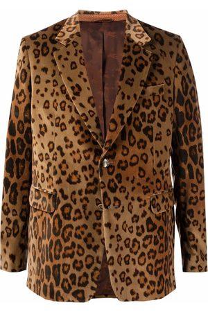 Etro Leopard-print velvet blazer - Neutrals