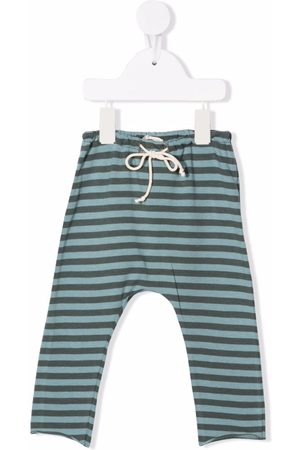 Babe And Tess Striped cotton leggings