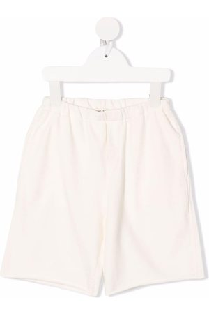 Babe And Tess Elasticated knee-length shorts - Neutrals