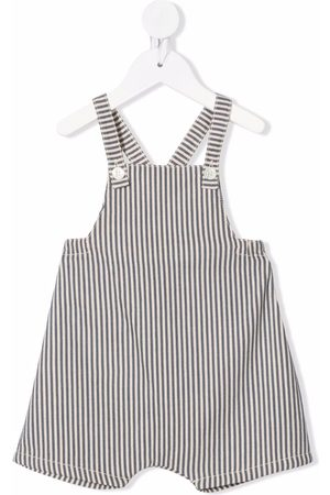 Babe And Tess Dungarees - Striped cotton dungarees