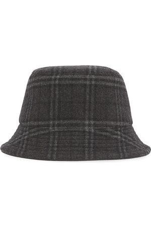 Burberry Check-print bucket hat - Grey