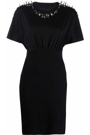 Givenchy Women Party Dresses - Studded short-sleeve mini dress