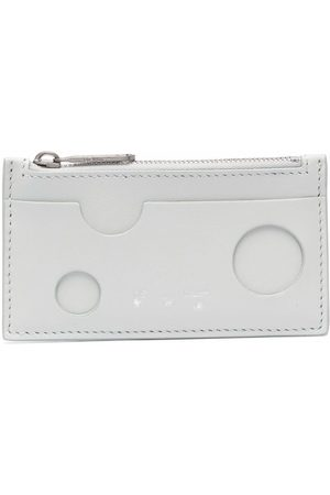 Off-White Women Wallets - Burrow cut-out compact wallet - Grey