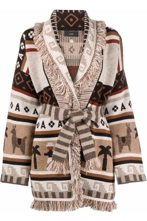 Alanui Women Cardigans - Chunky knitted cardigan - Neutrals