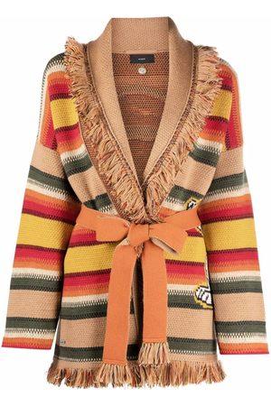 Alanui Striped fringed cardigan - Neutrals