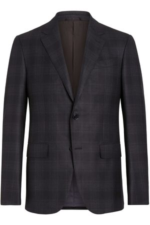 Ermenegildo Zegna Men Blazers - Check-pattern single-breasted blazer