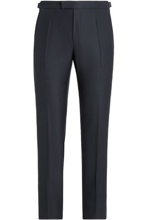 Ermenegildo Zegna Men Formal Pants - Checked wool-blend tailored trousers