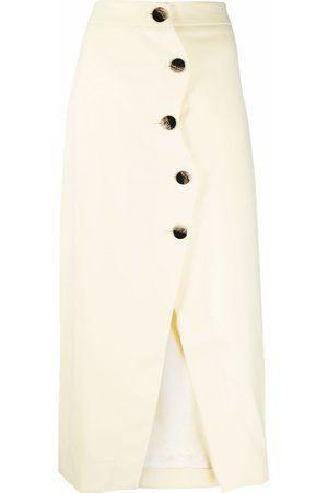 Ganni Women Asymmetrical Skirts - High-rise asymmetric skirt