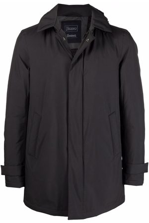 Herno Padded zip-front hooded coat - Grey