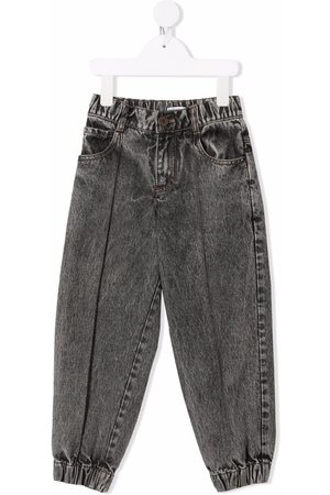 Brunello Cucinelli Acid-wash straight jeans - Grey