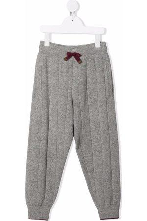 Brunello Cucinelli Boys Sweatpants - Ribbed-knit track pants - Grey
