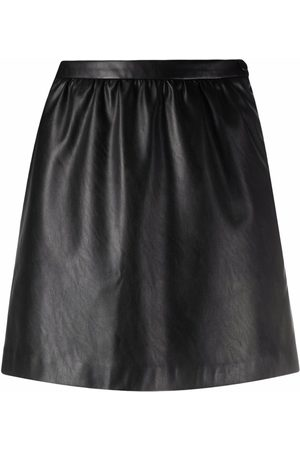 Pinko Women Leather Skirts - High-waisted faux leather skirt