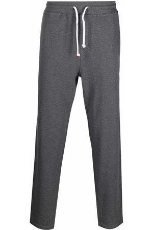 Brunello Cucinelli Men Sweatpants - Jersey drawstring-waist track pants - Grey
