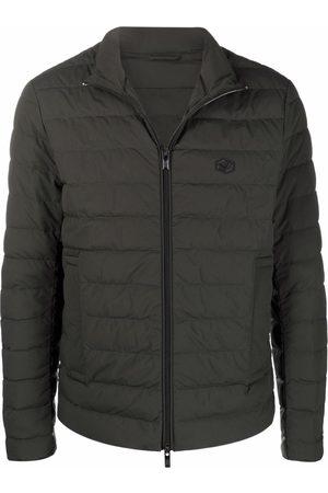 Emporio Armani Padded logo-patch jacket