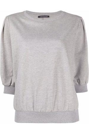 Luisa Cerano Three-quarter sleeve knit top - Grey