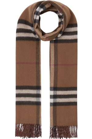 Burberry Reversible checked cashmere scarf