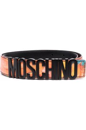Moschino Men Belts - Logo-lettering leather belt