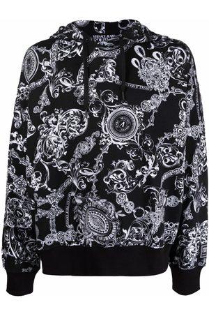 VERSACE Baroque-print pullover hoodie