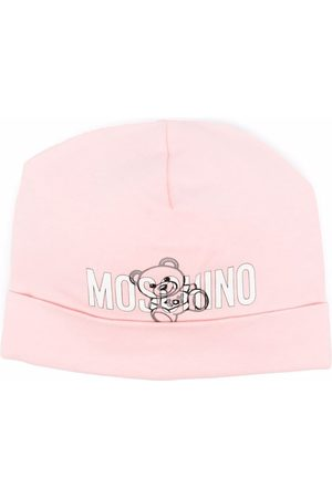 Moschino Teddy bear-print stretch-cotton beanie