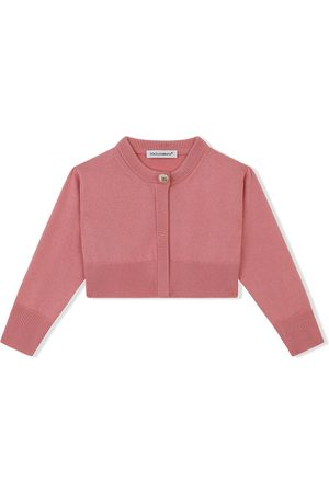 Dolce & Gabbana Cardigans - Cropped cotton-knit cardigan