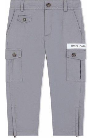 Dolce & Gabbana Straight leg cargo trousers - Grey
