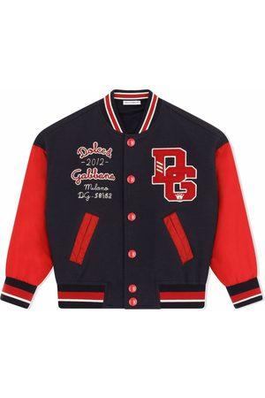 Dolce & Gabbana Boys Bomber Jackets - Logo-patch bomber jacket