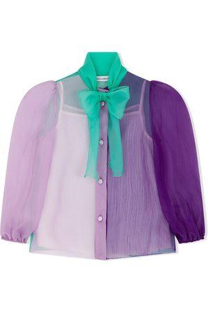 Dolce & Gabbana Kids Colour-block silk shirt