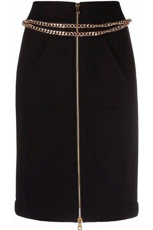 Moschino Iconic chain-trim pencil skirt