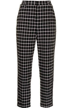 Rebecca Vallance Cory checked straight-leg trousers