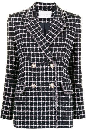 Rebecca Vallance Women Blazers - Cory checked double-breasted blazer