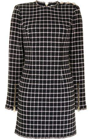 Rebecca Vallance Women Party Dresses - Cory check-print mini dress