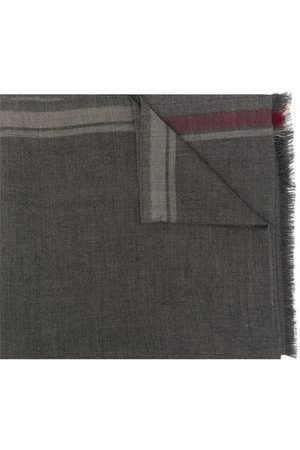 Brunello Cucinelli Men Scarves - Fine knit cashmere scarf - Grey