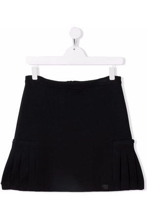 Emporio Armani Girls Mini Skirts - TEEN flared mini skirt