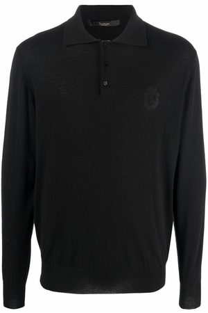BILLIONAIRE Embroidered-logo knitted polo shirt