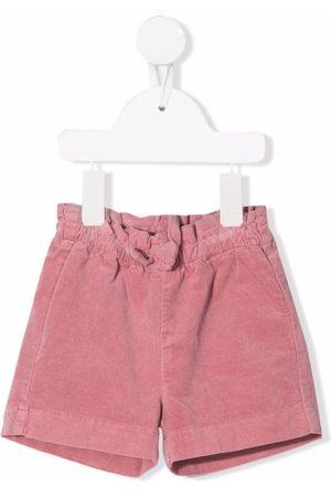 Il gufo Elasticated velvet shorts