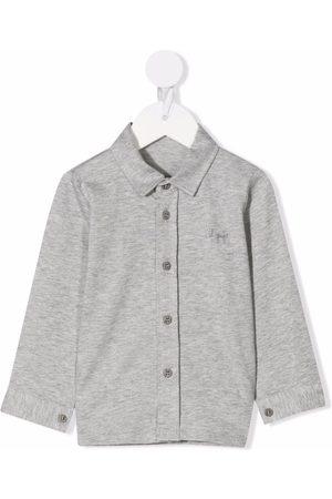 Il gufo Plain button-down shirt - Grey