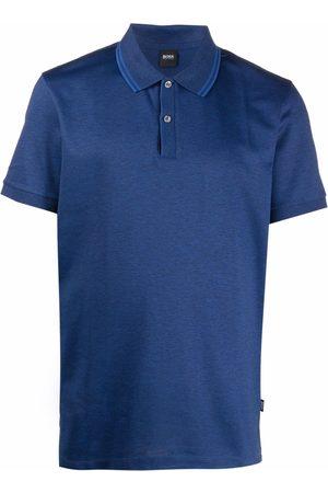 HUGO BOSS Men Polo Shirts - Short-sleeved contrasting polo shirt