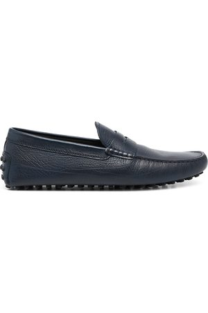 Tod's Men Loafers - Almond-toe pebbled-texture loafers